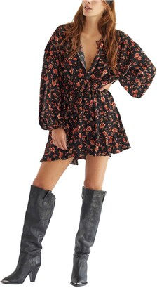 Free People Flower Fields Floral Long Sleeve Minidress