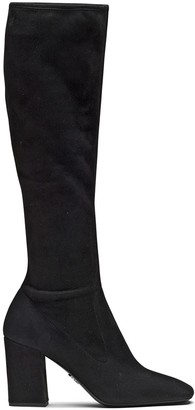 Prada Mid-Heel Knee-Length Boots