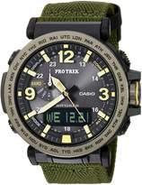Casio Men's 'Pro Trek' Quartz Resin and Cloth Casual Watch, Color: (Model: PRG600YB-3CR)