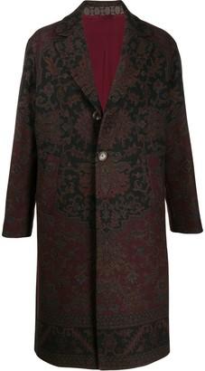 Etro Deconstructed carpet print coat