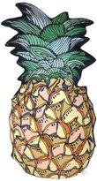 Silken Favours Pineapple Silk & Cotton Pillow