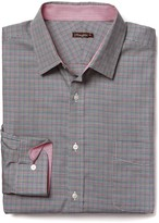 J.Mclaughlin Gramercy Regular Fit Shirt in Houndstooth Check
