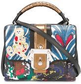 Paula Cademartori contrast print satchel bag