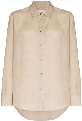 ASCENO Milan long-sleeve linen shirt