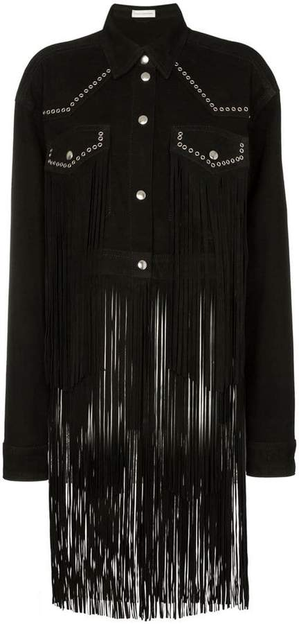 Faith Connexion fringed studded suede jacket