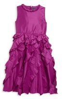 Oscar de la Renta Toddler's, Little Girl's & Girl's Ruffled Taffeta Dress