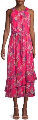 Calvin Klein Floral Halter Midi Dress