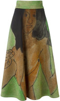 Christopher Kane body print midi skirt - women - Viscose - 40
