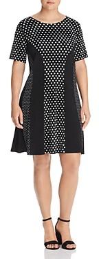 MICHAEL Michael Kors Paneled Mod Dot Fit-and-Flare Dress