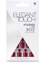 Elegant Touch Pre Polished Nails with self adhesive tabs - Smile (Red) - 302