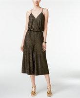 Thalia Sodi Metallic Chain-Strap Culotte Jumpsuit, Only at Macy's