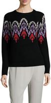 Vivienne Tam Wool Cross Stitich Sweater