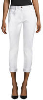 St. John Cotton Rolled Cuff Cropped Pant