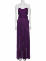 Thumbnail for your product : Maria Lucia Hohan Silk Long Dress Purple