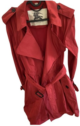 Burberry Red Synthetic Trench coats