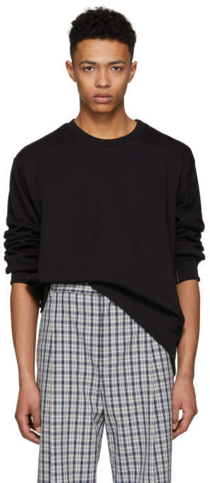 3.1 Phillip Lim Black Re-Constructed Sweatshirt