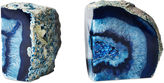 One Kings Lane S/2 Large Blue Agate Geode Bookends