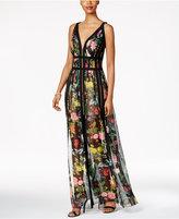 Tadashi Shoji Floral-Print A-Line Gown