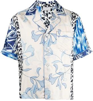 Pierre Louis Mascia Aloe patchwork silk shirt