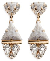 Anton Heunis Swarovski crystal vintage stone pendant earrings