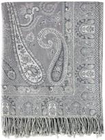 Melange Home Ravenna Paisley Jacquard Cotton Bedspread - Grey