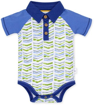 Burt's Bees Graphic Chevron Organic Baby Polo Bodysuit