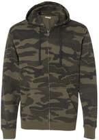 Burnside Camo Full-Zip Hooded Sweatshirt.B8615