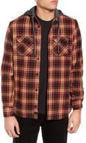 Globe 'Alford' Trim Fit Long Sleeve Plaid Hooded Shirt