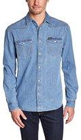 Wrangler Men's Classic Western Long Sleeve Classic Denim Shirt