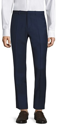 Theory Jake Slim-Fit Grid Glenn Wool Trousers