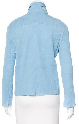Nellie Partow Textured Button-Up Top w/ Tags