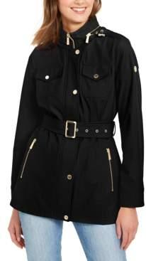 Michael Kors Michael Hooded Belted Coat