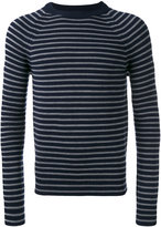 Saint Laurent striped crew neck jumper - men - Wool - M
