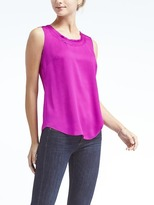 Banana Republic Easy Care Bias Trim Tank