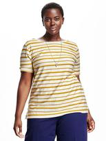 Old Navy Jacquard Button-Back Plus-Size Top