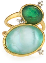 Alexis Bittar Golden Multi-Stone Cocktail Ring