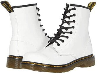 Dr. Martens Kid's Collection 1460 (Big Kid) (White) Kid's Shoes