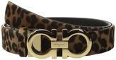 Salvatore Ferragamo Leopard Double Gancini Belt