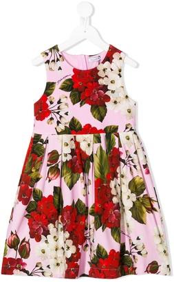 Dolce & Gabbana Kids Floral Print Dress