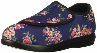 Propet Women's Cush 'N Foot Slipper Navy Blossom 06 2A US