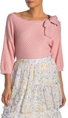 Cynthia Steffe CeCe by Cold Shoulder Diamond Jacquard Sweater