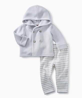 Tea Collection Casual Pants STERLING - Sterling Hooded Sweater & Stripe Leggings Set - Newborn