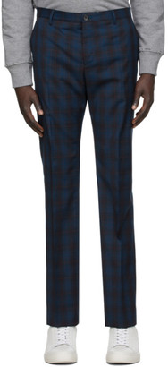 Paul Smith Navy Plaid Trousers