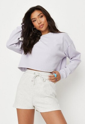 Missguided White Marl Runner Shorts