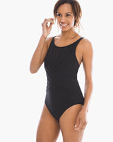 Chico's Mesh High-Neck One-Piece Swimsuit