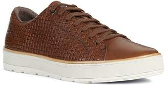 Geox Men's Ariam Embossed Leather Lace-Up Sneakers