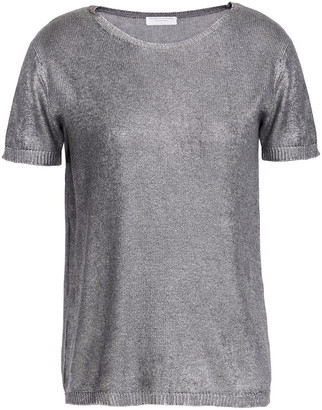 Majestic Filatures Metallic Coated Silk And Wool-blend Top