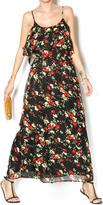 Feline Floral Maxi Dress