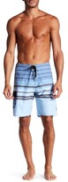 Ezekiel Striped Print Board Shorts