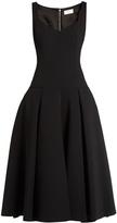 Sara Battaglia Full-skirt drop-waist midi dress